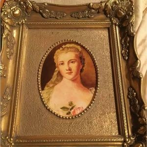 Other - ANTIQUE PORTRAIT OF A LADY IN ORNATE GOLD FRAME